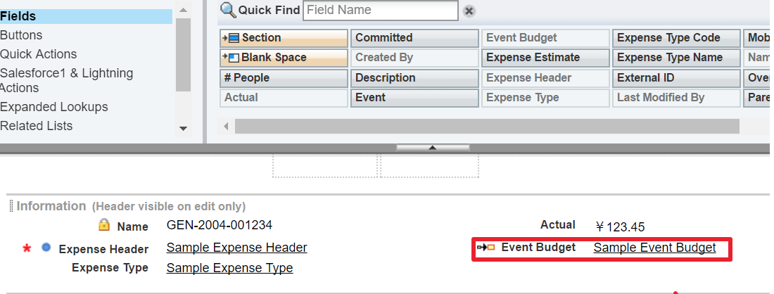 event split icon does not appear in expense lines in crm irep