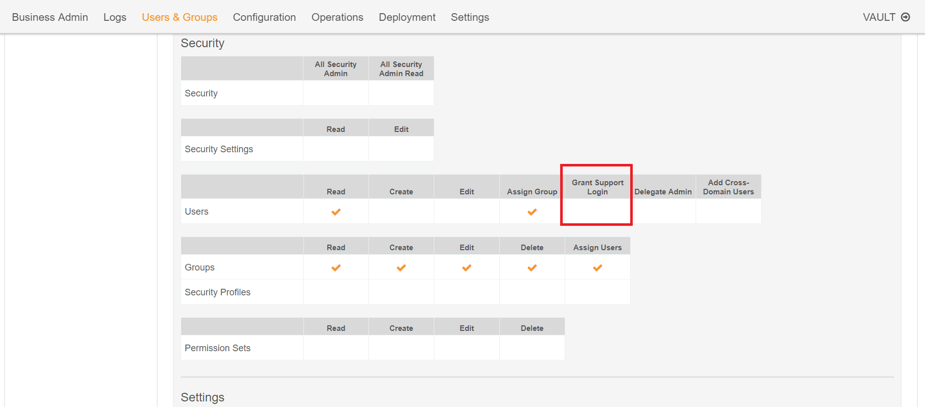 Unable To Grant Support Login Access From User Detail Page In Vault Veeva Product Support Portal