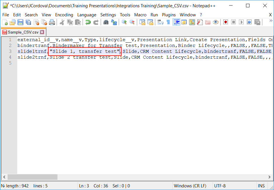 Error In CSV File When Migrating Documents into Vault