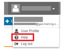 click help under the user profile